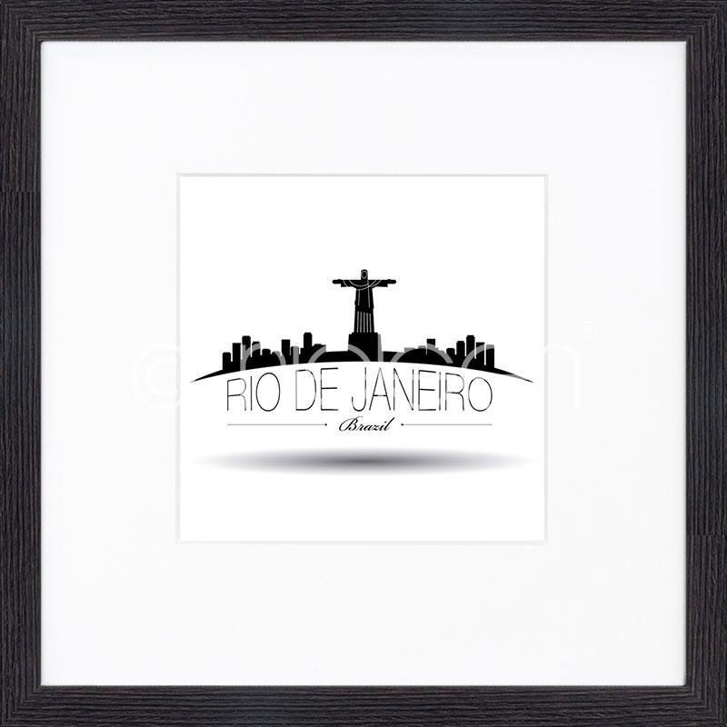 """Immagine incorniciata """"Rio de Janeiro"""" con cornice in legno Quadrum"""