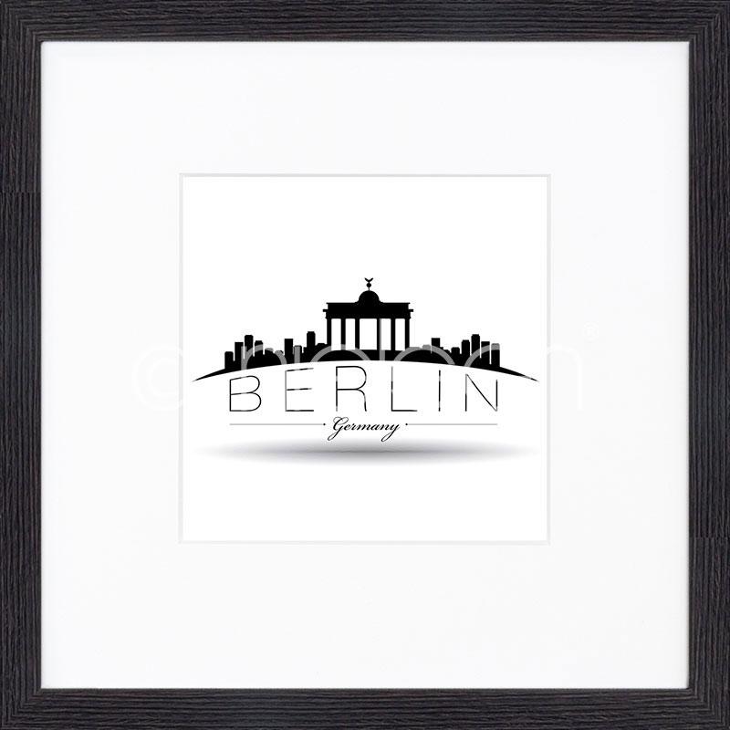 """Immagine incorniciata """"Berlin"""" con cornice in legno Quadrum"""