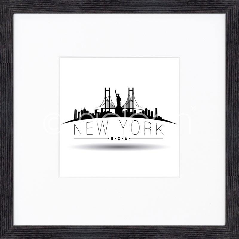 """Immagine incorniciata """"New York"""" con cornice in legno Quadrum"""