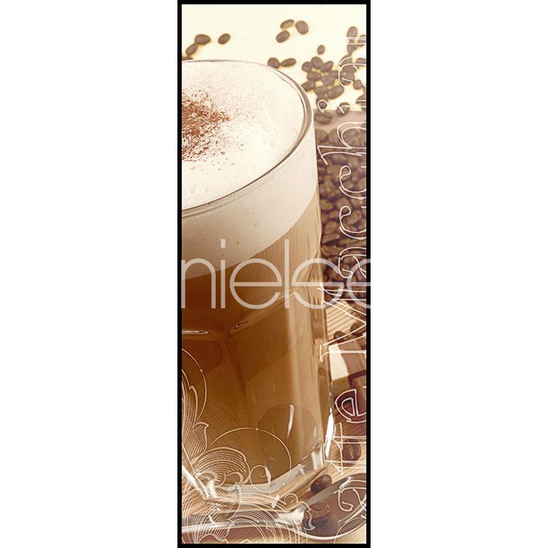 """Immagine incorniciata """"Coffee Time"""" con cornice in alluminio C2"""