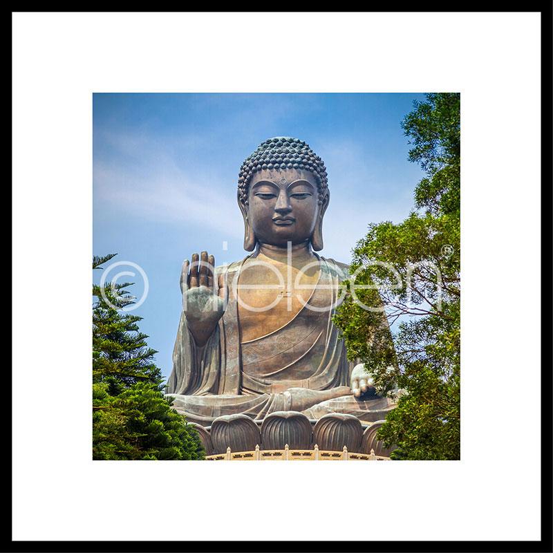 """Immagine incorniciata """"Statue of Buddha"""" con cornice in alluminio C2"""