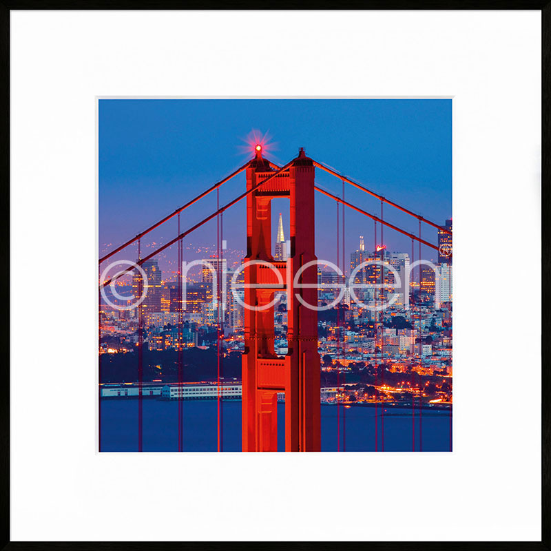 "Immagine incorniciata ""Golden Gate Bridge"" con cornice in alluminio C2"