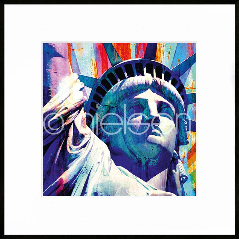 """Immagine incorniciata """"Statue of Liberty"""" con cornice in alluminio C2"""