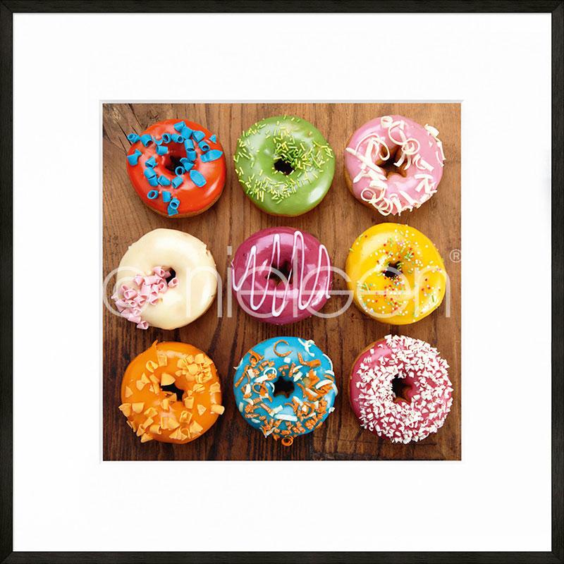 """Immagine incorniciata """"Donuts"""" con cornice in alluminio C2"""