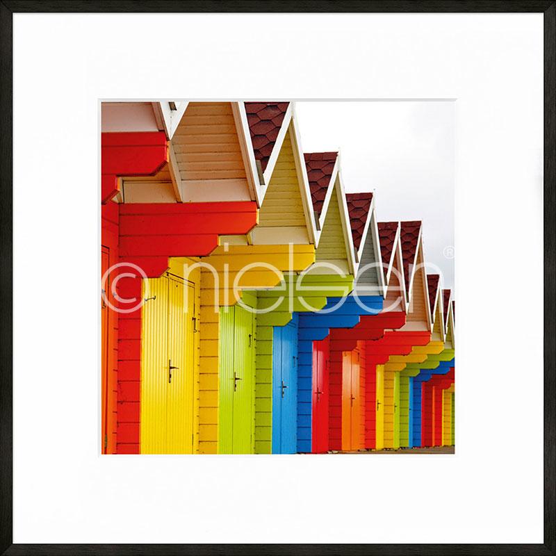 """Immagine incorniciata """"Cottage"""" con cornice in alluminio C2"""