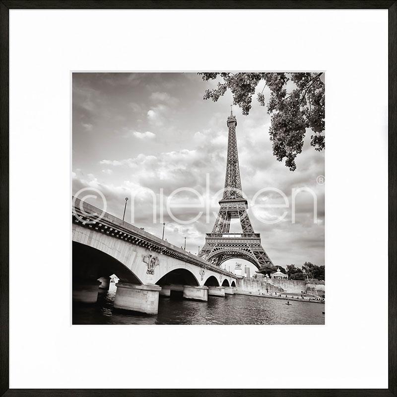 """Immagine incorniciata """"Paris black and white"""" con cornice in alluminio C2"""
