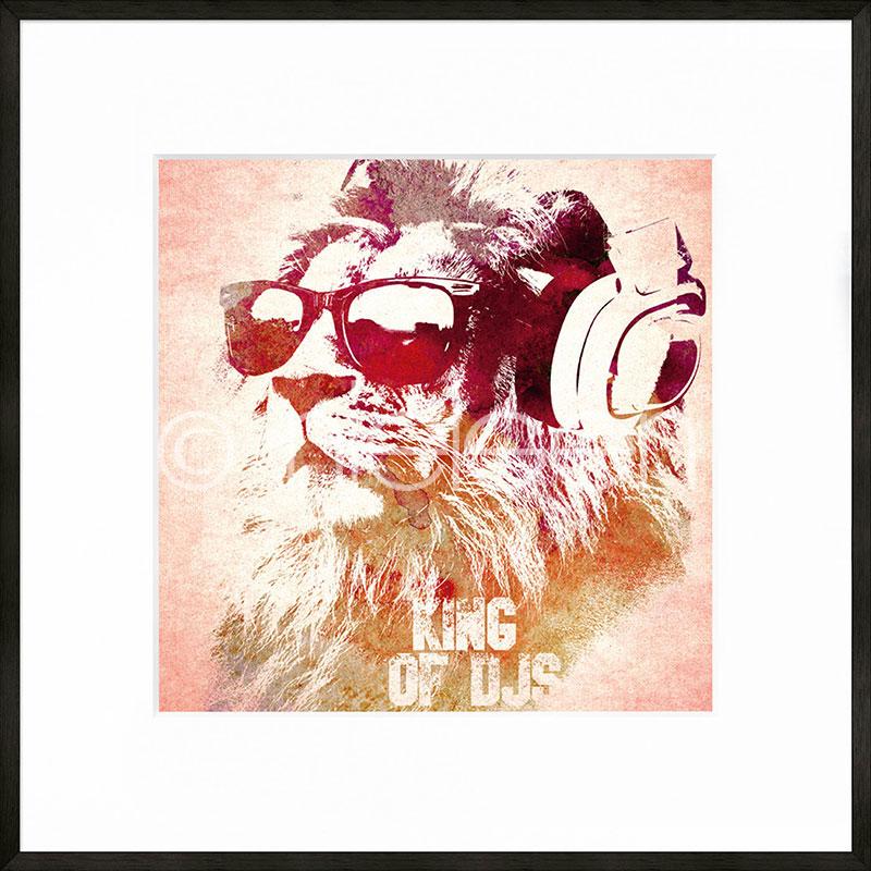 """Immagine incorniciata """"King of DJs"""" con cornice in alluminio C2"""