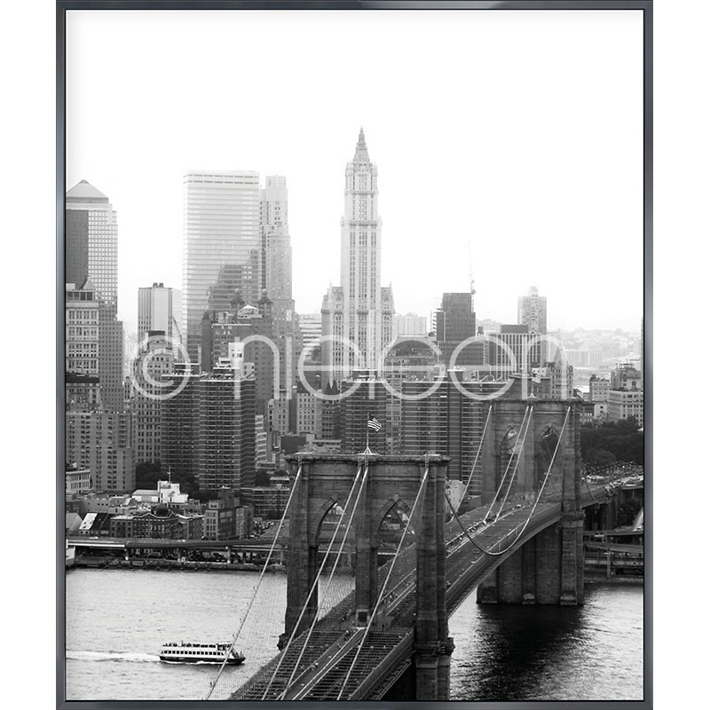 "Immagine incorniciata ""Brooklyn Bridge"" con cornice in alluminio Alpha"