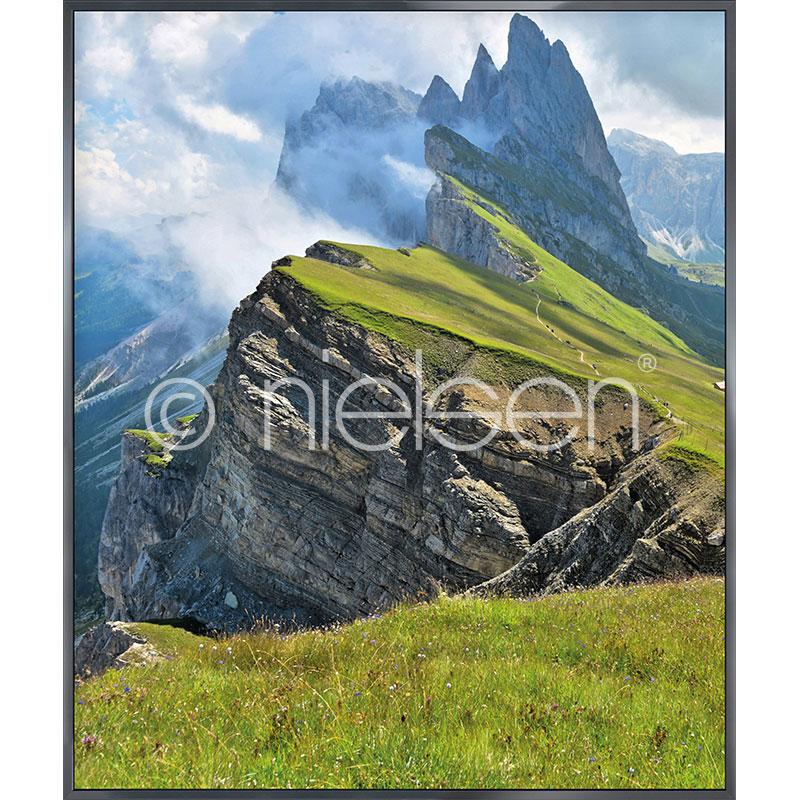 """Immagine incorniciata """"Mountain Range"""" con cornice in alluminio Alpha"""