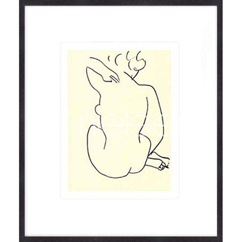 """Immagine incorniciata """"Nu, 1949 con Matisse"""" con cornice in legno Quadrum"""