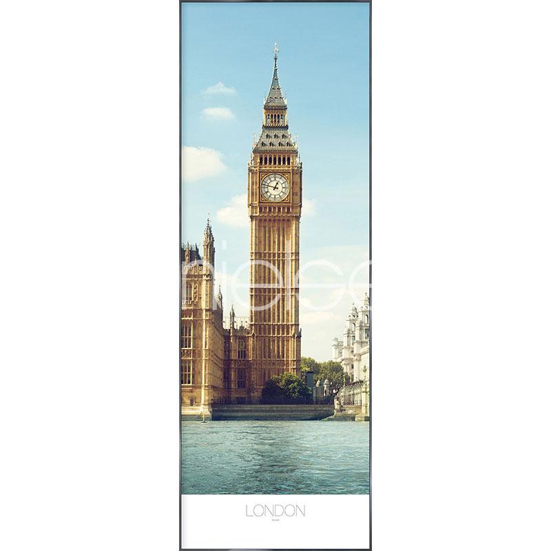 """Immagine incorniciata """"London"""" con cornice in alluminio Alpha"""