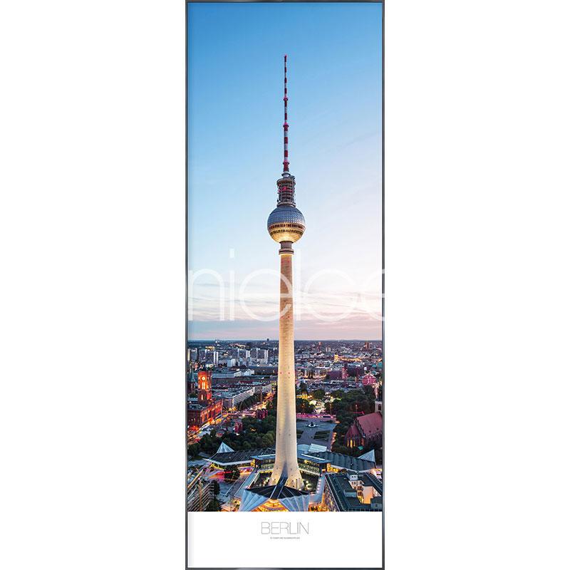 """Immagine incorniciata """"Berlin"""" con cornice in alluminio Alpha"""
