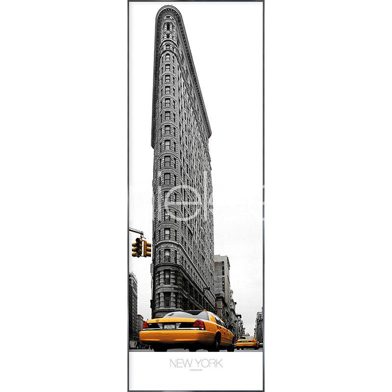"""Immagine incorniciata """"Flatiron Building"""" con cornice in alluminio Alpha"""