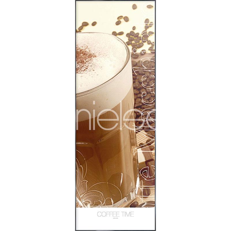 """Immagine incorniciata """"Coffee Time"""" con cornice in alluminio Alpha"""