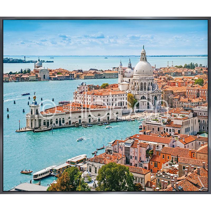 """Immagine incorniciata """"Venice Santa Maria"""" con cornice in alluminio Alpha"""