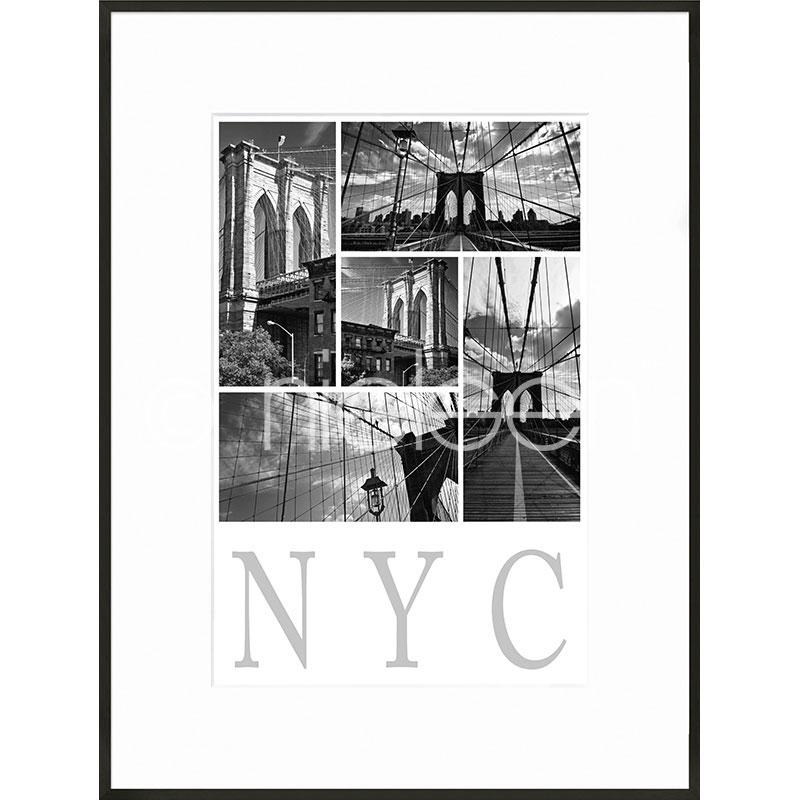 """Immagine incorniciata """"New York City"""" con cornice in alluminio C2"""