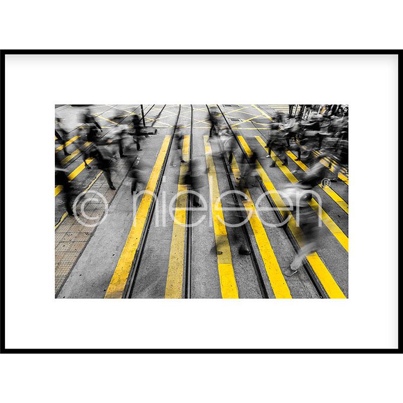 """Immagine incorniciata """"Zebra Crossing"""" con cornice in alluminio C2"""