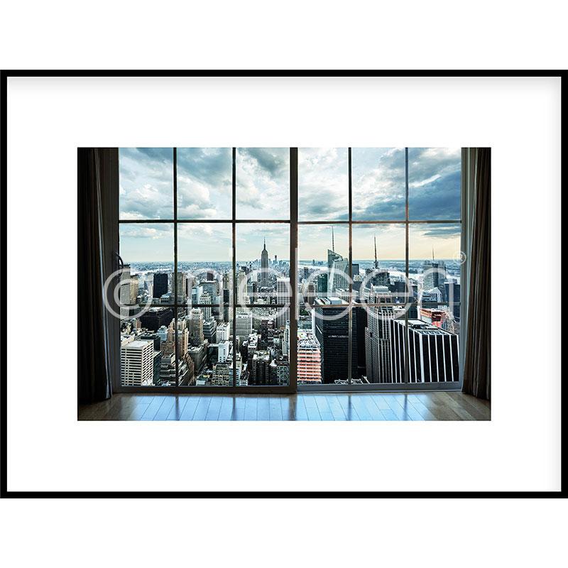 """Immagine incorniciata """"Living Room"""" con cornice in alluminio C2"""