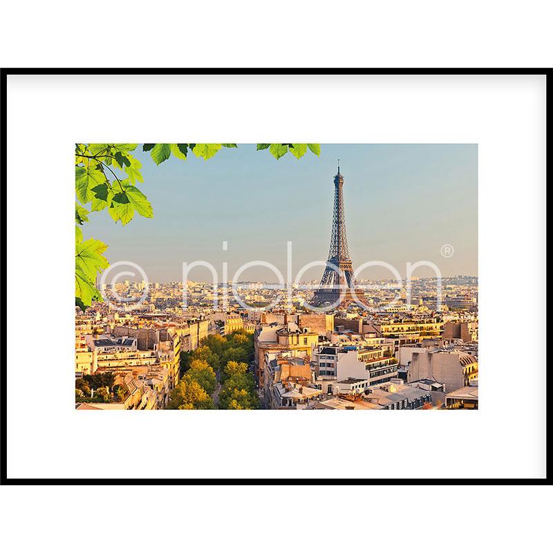 """Immagine incorniciata """"Paris"""" con cornice in alluminio C2"""