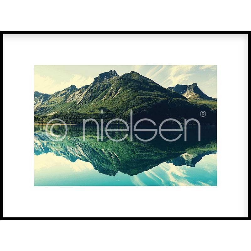 """Immagine incorniciata """"Mountain Lake"""" con cornice in alluminio C2"""