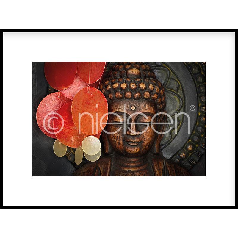 """Immagine incorniciata """"Buddha"""" con cornice in alluminio C2"""