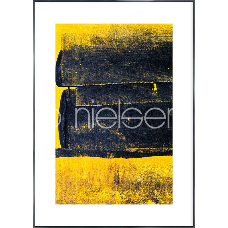 """Immagine incorniciata """"Abstract Yellow"""" con cornice in alluminio Alpha"""