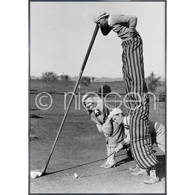 """Immagine incorniciata """"Golfer"""" con cornice in alluminio Alpha"""