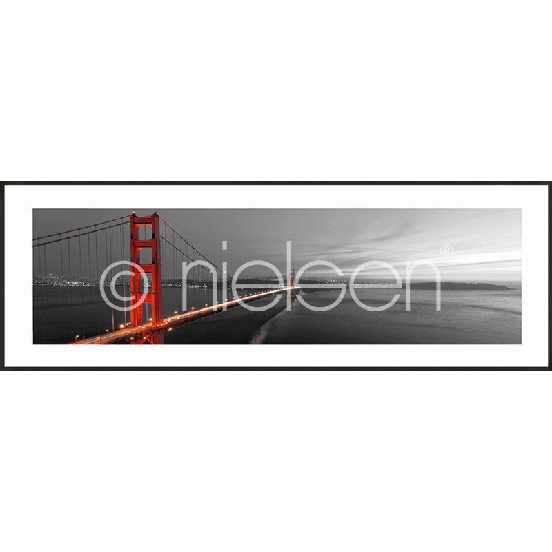 """Immagine incorniciata """"Golden Gate Bridge"""" con cornice in alluminio C2"""