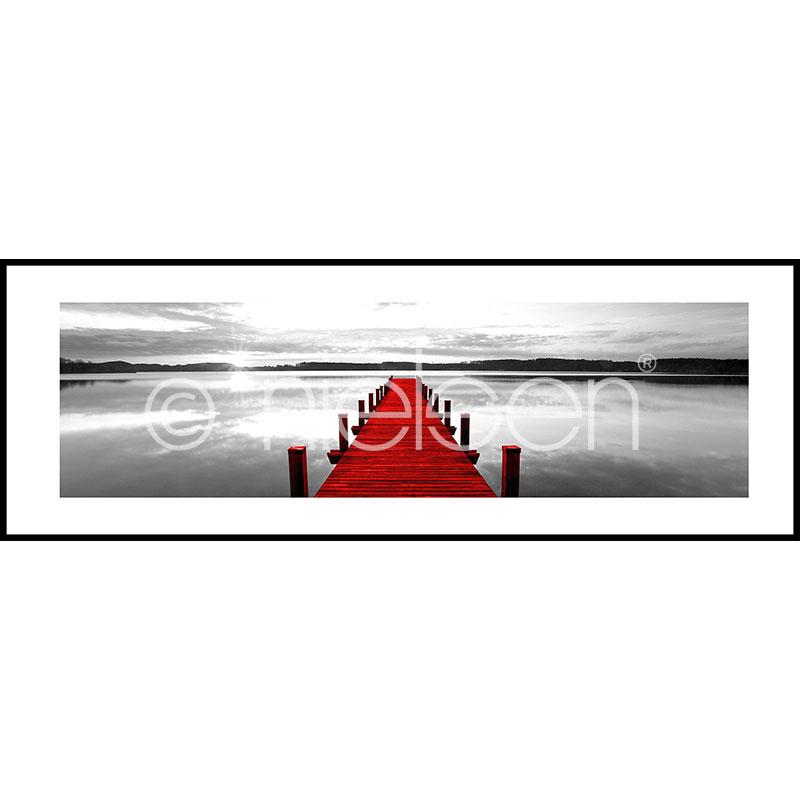 """Immagine incorniciata """"Footbridge red"""" con cornice in alluminio C2"""