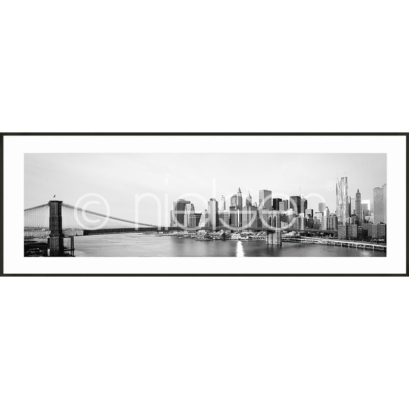 "Immagine incorniciata ""New York City Skyline"" con cornice in alluminio C2"