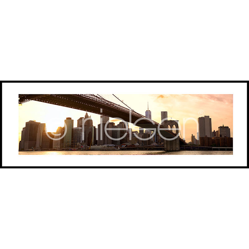 "Immagine incorniciata ""Brooklyn Bridge Sunset"" con cornice in alluminio C2"