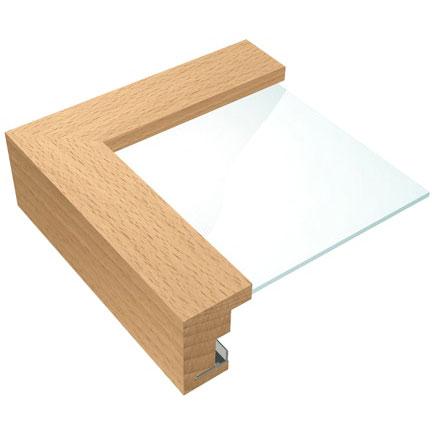 Cornice in legno di faggio / acero 60x70 cm | faggio naturale | vetro normale