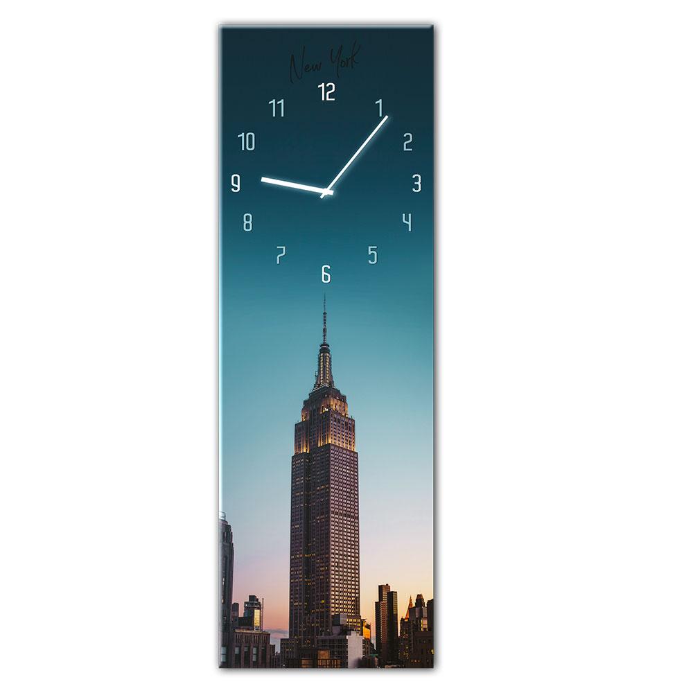 orologio in vetro MANHATTAN 20x60 cm