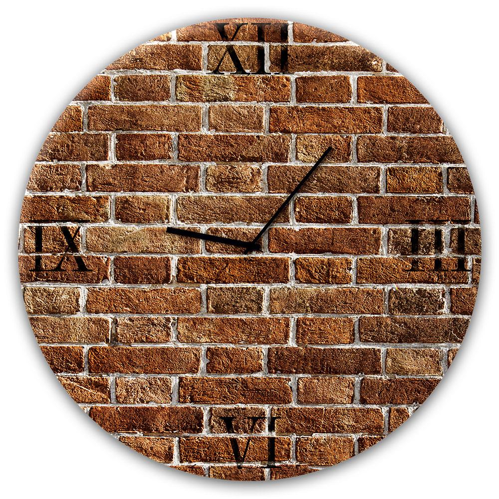 orologio in vetro REDBRICK 30 cm