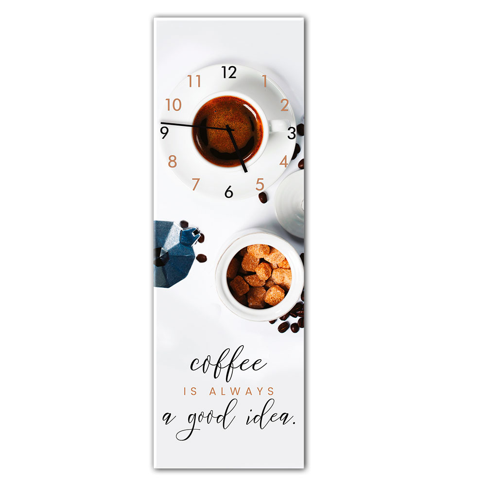 orologio in vetro COFFEE