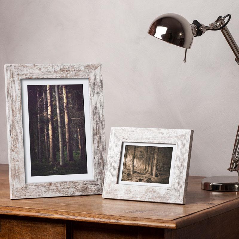 Cornice in legno Lahti 10x15 cm | shabby | vetro normale