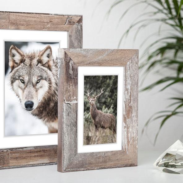 Cornice in legno Bergen 10x15 cm | marrone chiaro | vetro normale