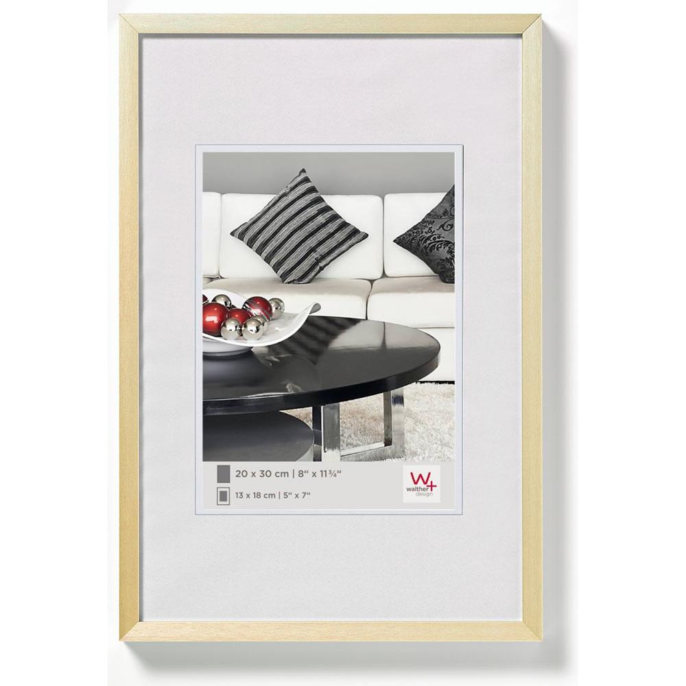 Cornice in alluminio Chair 30x40 cm | oro | vetro standarde