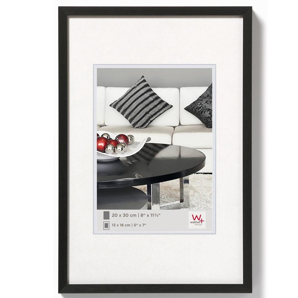 Cornice in alluminio Chair 10x15 cm | nero | vetro standarde