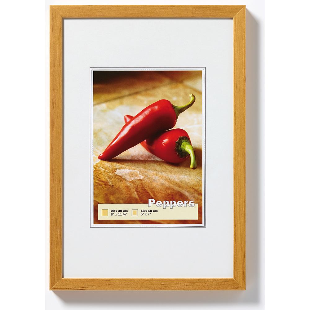 Cornice in legno Pepper 13x18 cm | rovere | vetro standarde