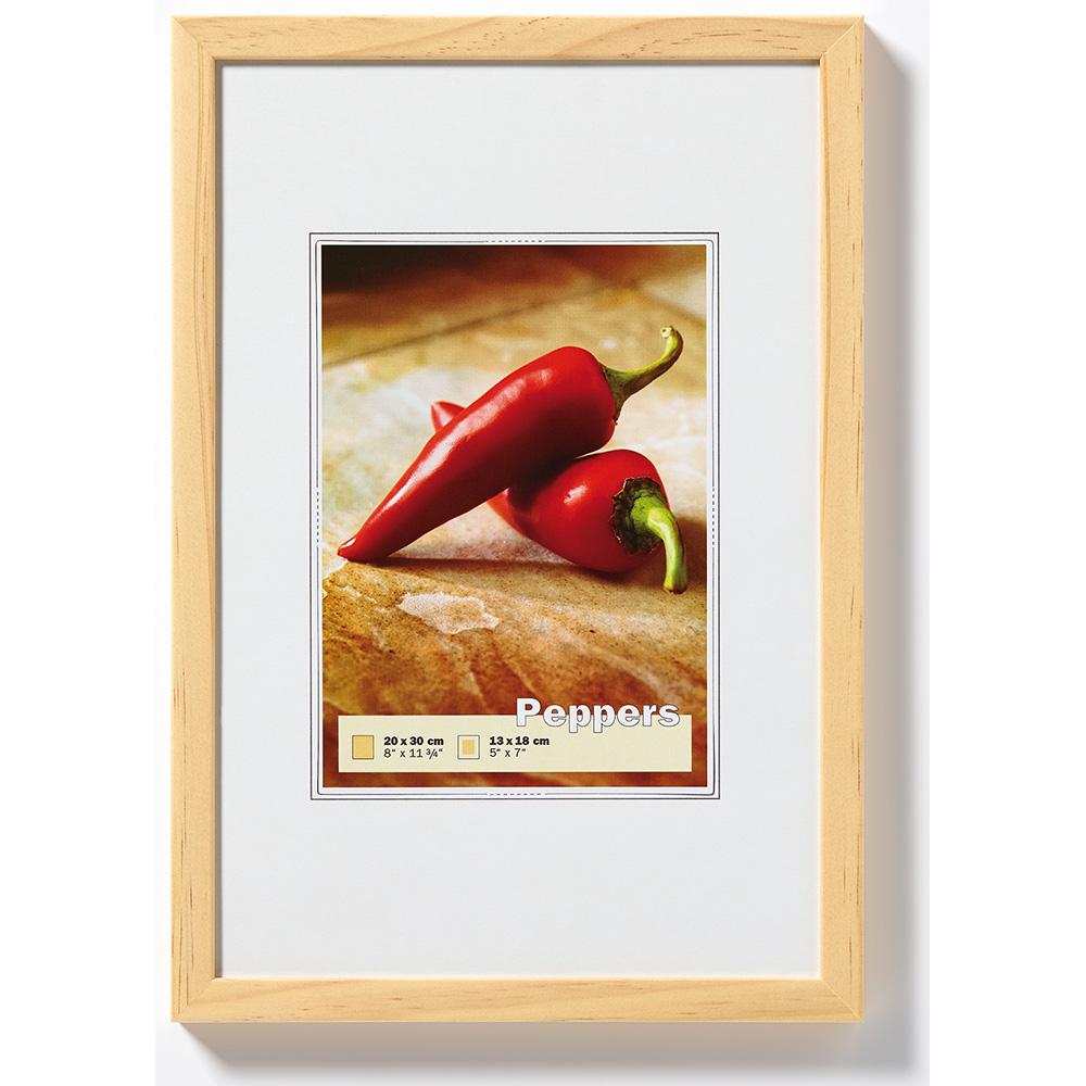 Cornice in legno Pepper 13x18 cm | pino | vetro standarde