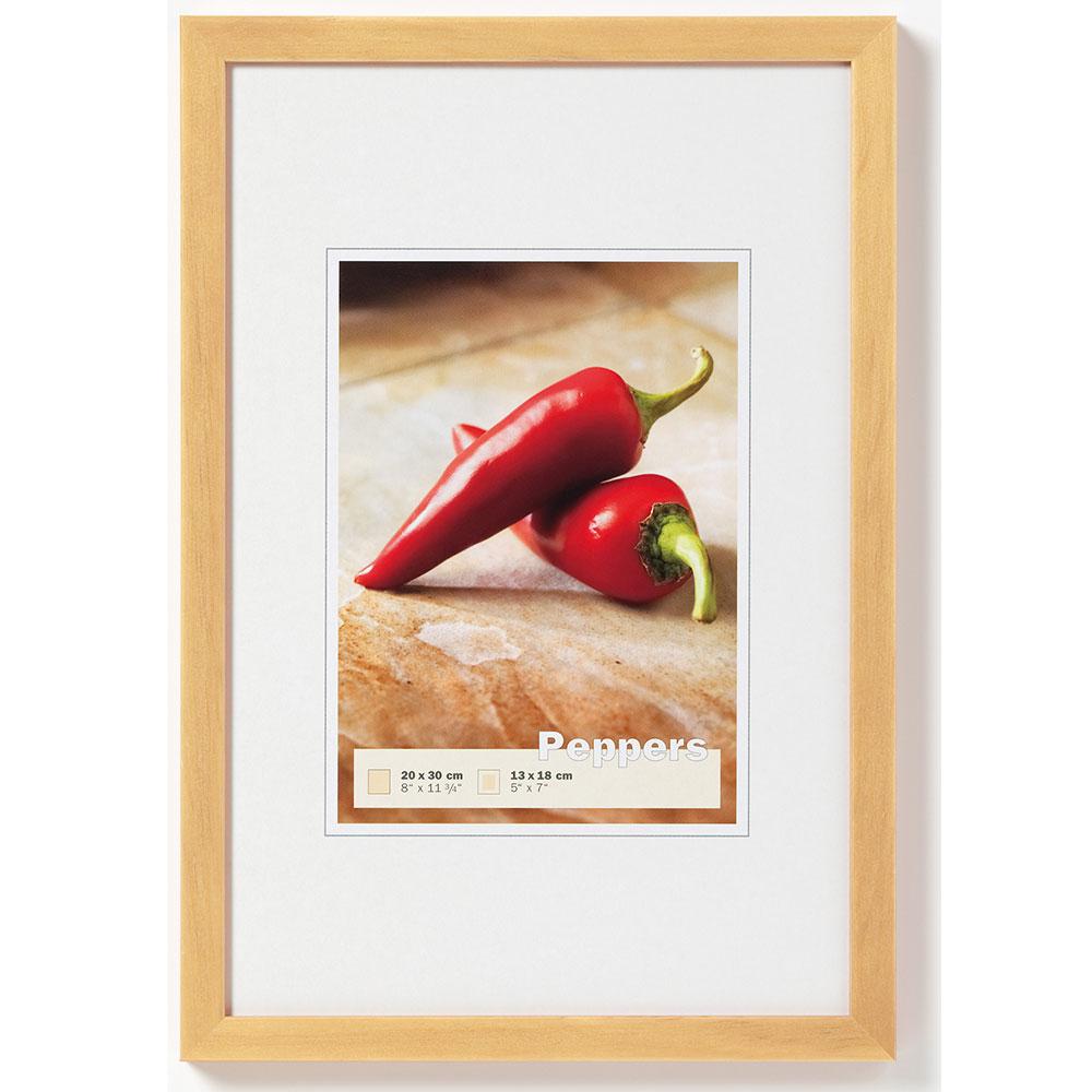 Cornice in legno Pepper 13x18 cm | naturale | vetro normale