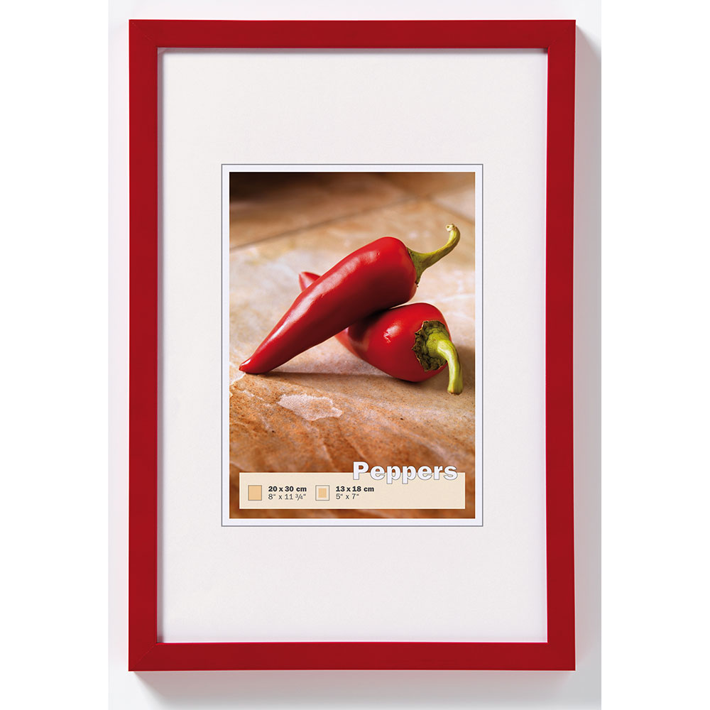 Cornice in legno Pepper 13x18 cm | rosso | vetro normale
