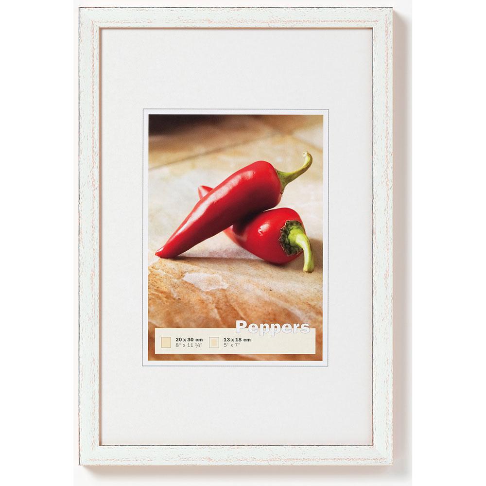 Cornice in legno Pepper 13x18 cm | argento | vetro standarde