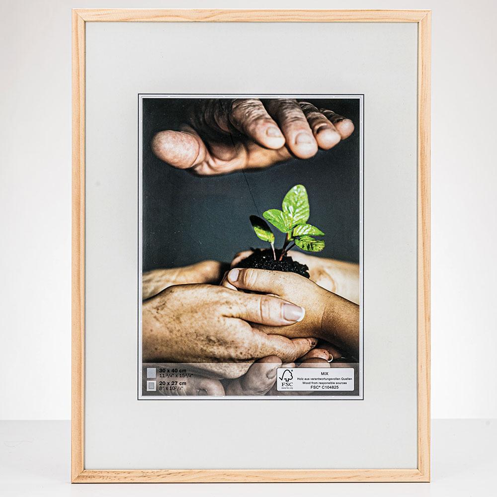 Cornice in legno Nature 13x18 cm | naturale | vetro standarde