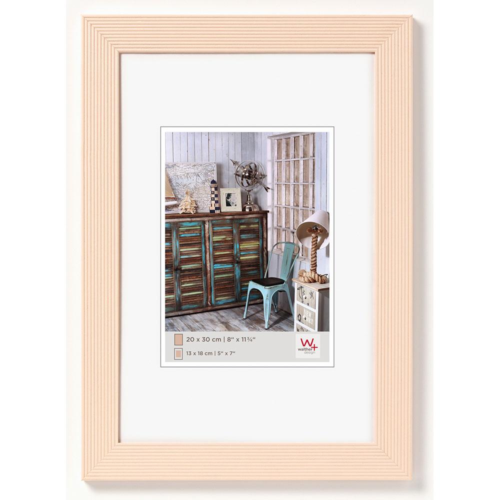 Cornice in legno Grado 13x18 cm | crème | vetro standarde