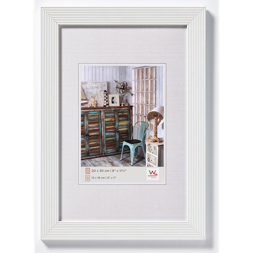 Cornice in legno Grado 10x15 cm | bianco | vetro normale