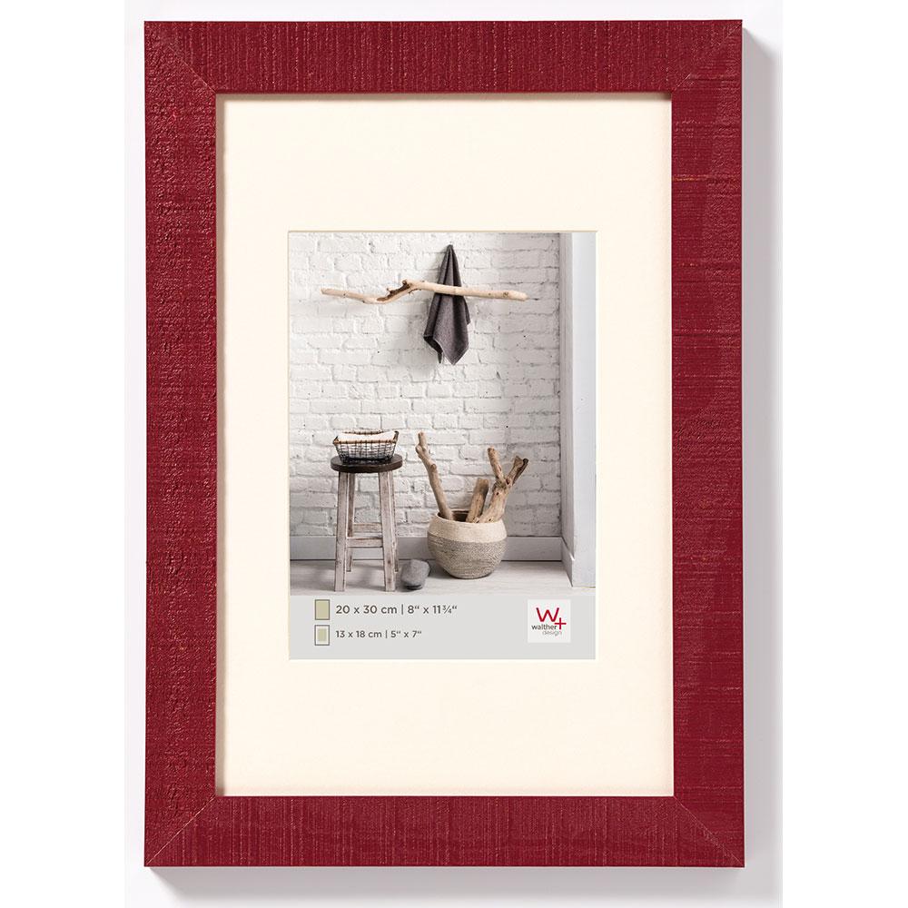 Cornice in legno Home 13x18 cm | bordeaux | vetro standarde