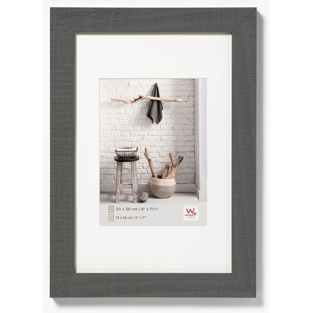 Cornice in legno Home 18x24 cm | grigio | vetro normale