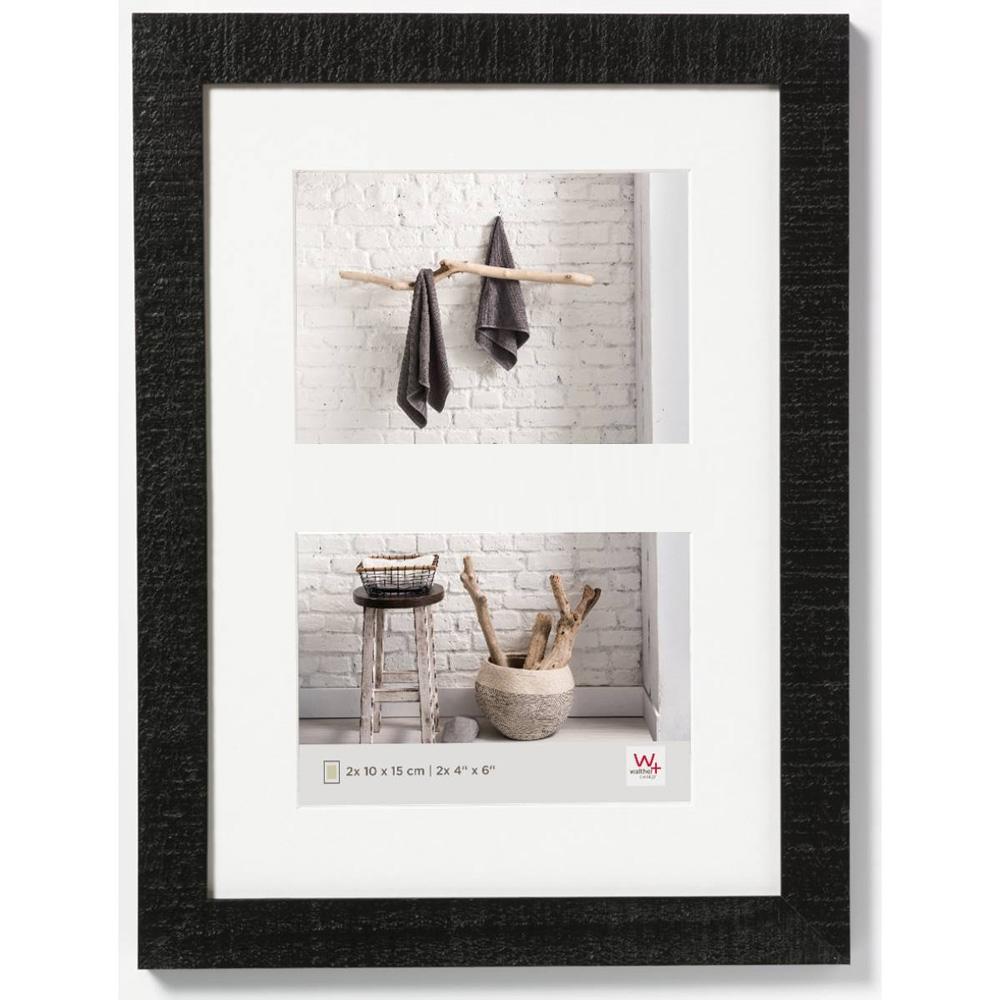 Cornice galleria per 2 Home 2x10x15 | nero | vetro standarde